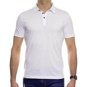Camisa Polo VR Algodão Pima Branca Basica