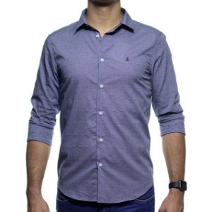 Camisa Social King e Joe Cinza Detalhada