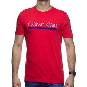 Camiseta de Malha Calvin Klein Vermelha