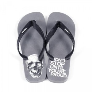 Chinelo Sergio K Skull Don't Stop Cinza
