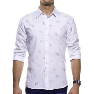 Camisa Social King e Joe Branca Cactus Regular Fit