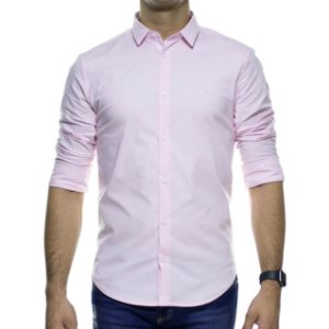 Camisa Social King e Joe Rosa Basica Regular Fit