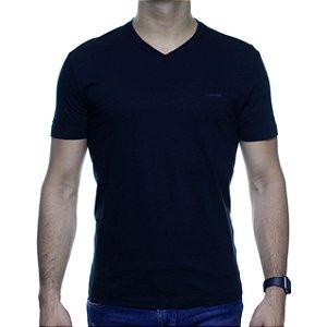 Camiseta Malha Calvin Klein Preta Basica