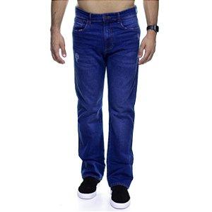 Calça Jeans Calvin Klein Destroyed Marinho Straight
