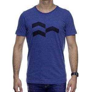 Camiseta de Malha Urbô Símbolo Gráfico Azul