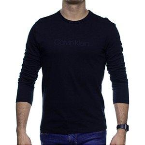 Camiseta Manga Longa Calvin Klein Preta