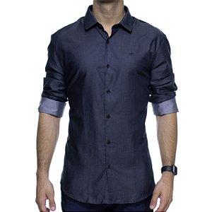 Camisa Social Calvin Klein Chumbo Slim Fit