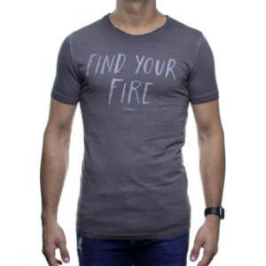 Camiseta Malha King e Joe Find Your Fire Chumbo