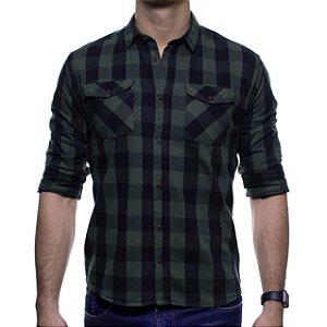 Camisa Social King e Joe Verde Xadrez