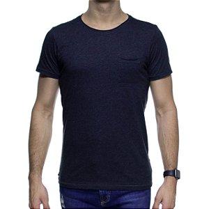 Camiseta de Malha Urbô Basica Chumbo com Bolso