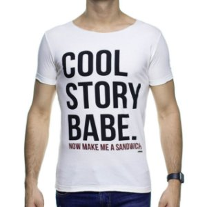 Camiseta Malha Purple Yellow Cool Story Creme