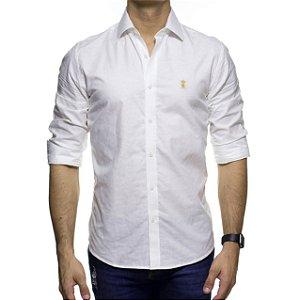 Camisa Social Sergio K Jacquard Abacaxi Branca