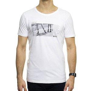 Camiseta de Malha Urbô Wave Branca