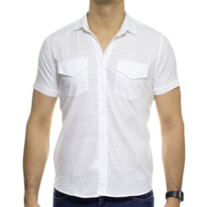 Camisa Social Urbô Manga Curta Branca