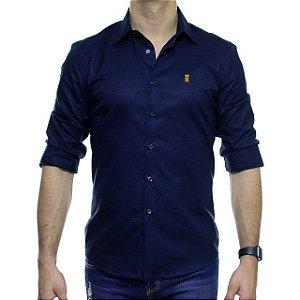 Camisa Social Sergio K Listras Horizontais Marinho
