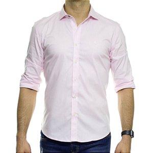 Camisa Social Sergio K Lisa Rosa Stretch