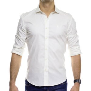 Camisa Social Sergio K Lisa Off White Stretch