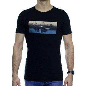 Camiseta de Malha Urbô One Step Preta