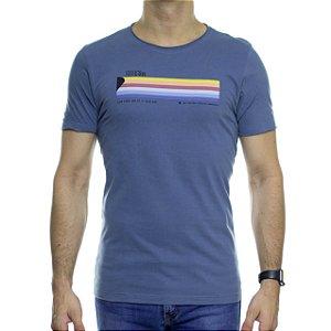 Camiseta de Malha Urbô Slow Down Azul