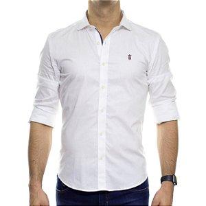 Camisa Social Sergio K Basica Stretch Gorgurão Branca