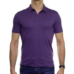 Camisa Polo VR Algodão Pima Violeta Basica
