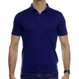 Camisa Polo VR Algodão Pima Azul Royal Basica