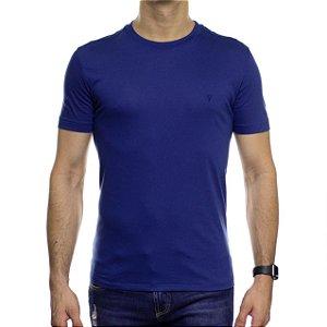 Camiseta de Malha VR Azul Royal Básica em Algodão Pima