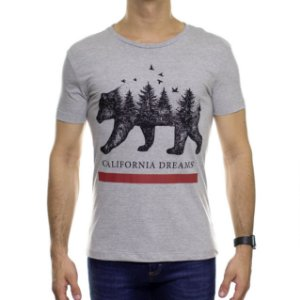 Camiseta de Malha Saultin California Dreams Cinza