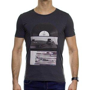 Camiseta Malha Sergio K Vinil Chumbo