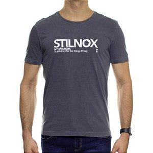 Camiseta Malha Sergio K Stilnox Chumbo