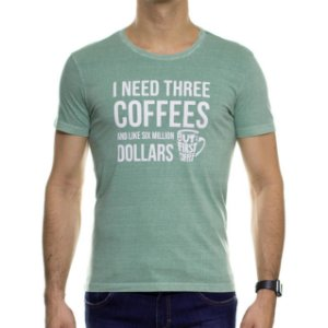 Camiseta Malha Sergio K Coffe Verde