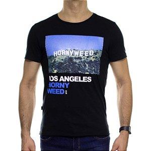 Camiseta Malha Sergio K Hornyweed Preta