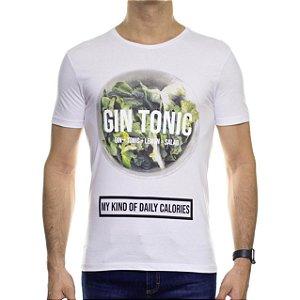 Camiseta Malha Sergio K Gin Tonic Branca