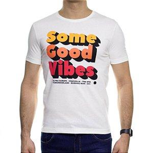 Camiseta Malha Sergio K Some Good Vibes Off White