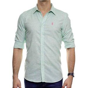 Camisa Social Sergio K Linho Verde
