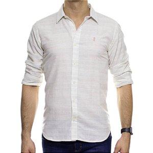 Camisa Social Sergio K Rustica Listrada Caqui
