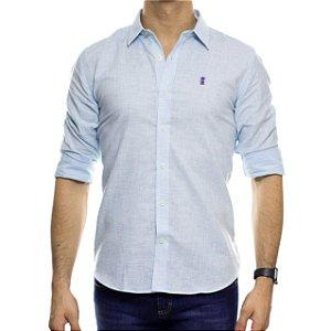 Camisa Social Sergio K Linho Azul Claro