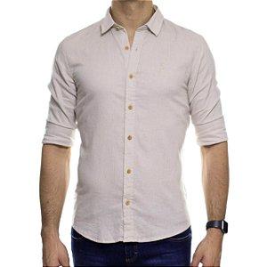 Camisa Social Ankor Linho Cinza Slim Fit