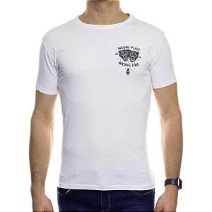 Camiseta de Malha Ankor Wrong Place Branca