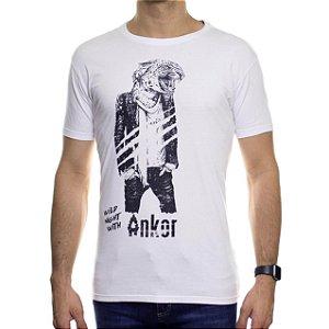Camiseta de Malha Ankor Wild Tiger Branca