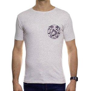 Camiseta de Malha Ankor Cobra Floral Mescla