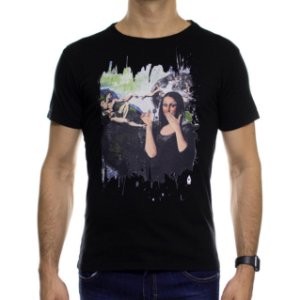 Camiseta de Malha Ankor Monalisa Preta