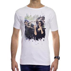 Camiseta de Malha Ankor Monalisa Branca