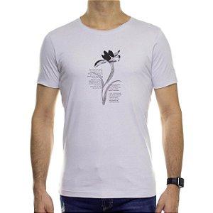 Camiseta de Malha Urbô Botanical Cinza