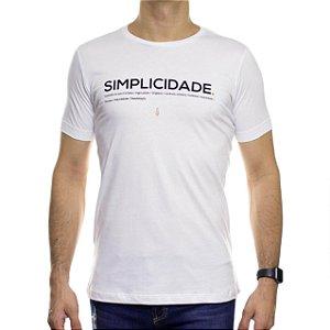 Camiseta de Malha Serafine Simplicidade Branca Gola Careca