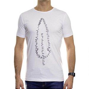 Camiseta de Malha Serafine Chalk Branca Gola Careca