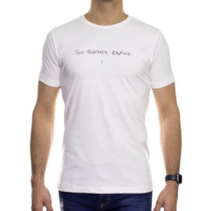 Camiseta de Malha Serafine Trash Off White Gola Careca