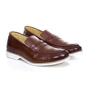 Sapato Social Loafer Latego Telha