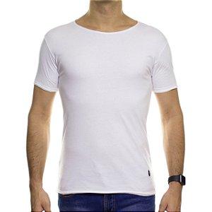 Camiseta de Malha Ankor Basica Branca Gola Careca