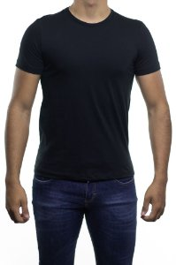 Camiseta Malha Sergio K Basica Preta Gola Careca